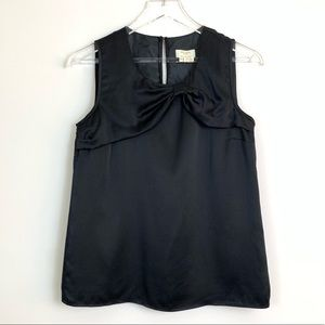 Kate Spade Black Sleeveless Silk Tank F56
